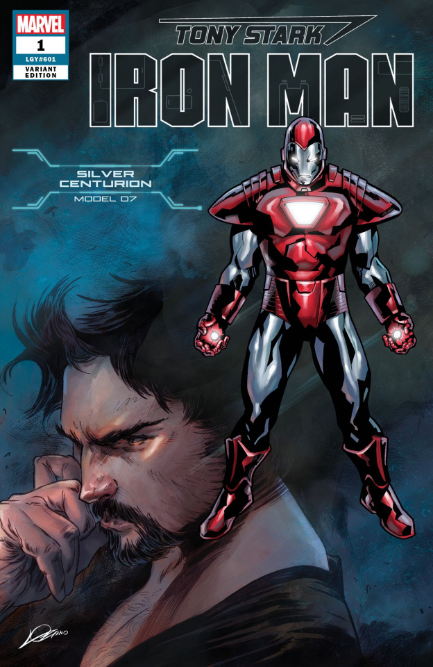 Tony Stark: Iron Man #1 (Silver Centurion Armor Cover)