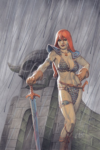 Red Sonja #7 (Linsner Virgin Cover)