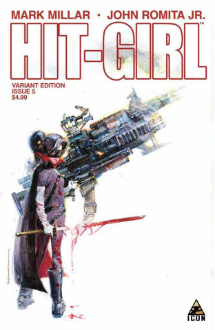 Hit-Girl #5 (Sienkiewicz Cover)