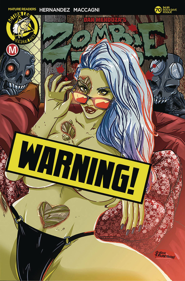 Zombie Tramp #70 (Rudetoons Reynolds Risque Cover)