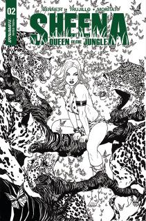 Sheena #2 (25 Copy McKone B&W Cover)