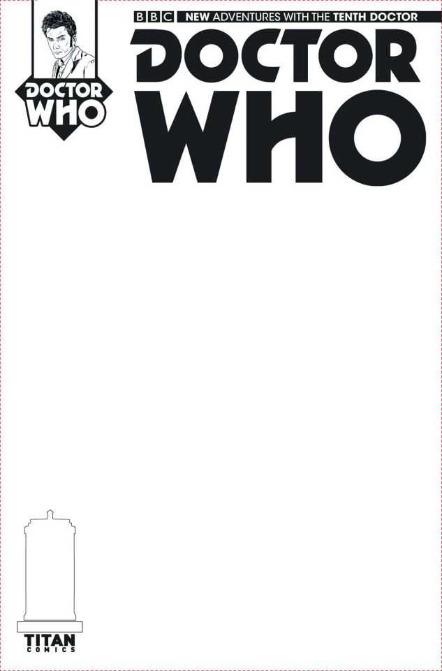 Doctor Who: New Adventures with the Tenth Doctor #1 (Blank Sketch Cover)