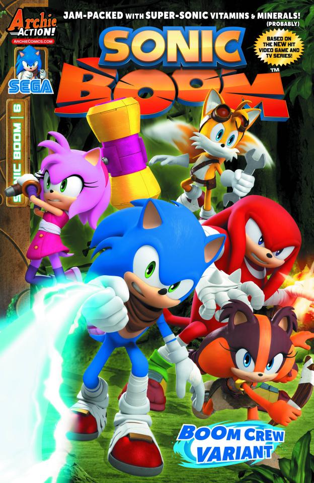 Sonic Boom #6 (Boom Crew Cover)