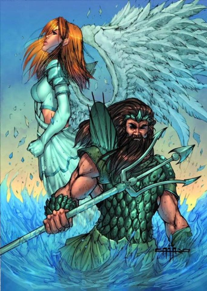 Grimm Universe #1: Neptune & Angel (Cafaro Cover)
