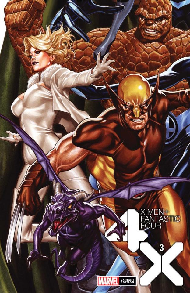 X-Men + Fantastic Four #3 (Brooks Cover)