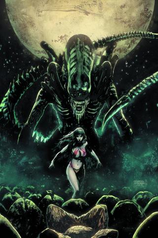 Aliens / Vampirella #1 (Rare Hardman Virgin Cover)