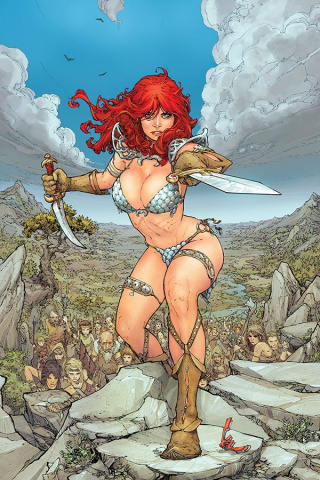 Red Sonja #4 (40 Copy Rocafort Virgin Cover)
