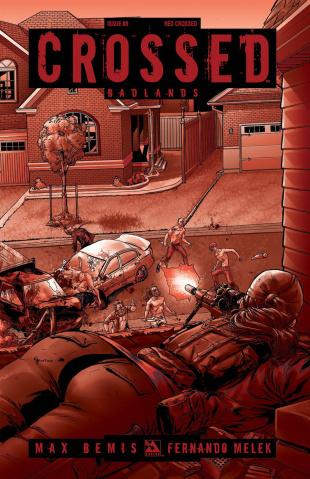 Crossed: Badlands #89 (Red Crossed Cover)