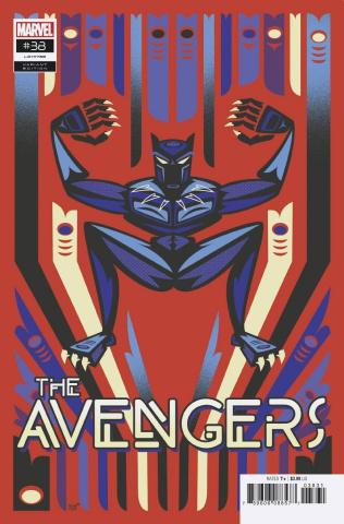 Avengers #38 (Veregge Black Panther Cover)