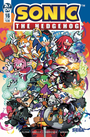 Sonic the Hedgehog #16 (Gray Cover)