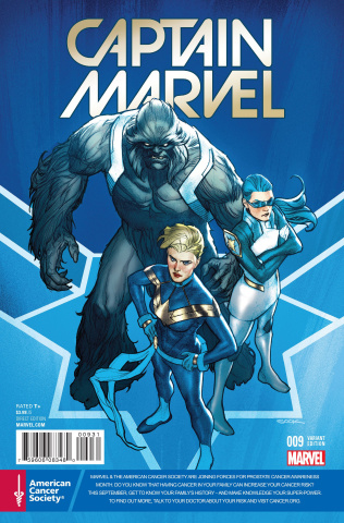 Captain Marvel #9 (Cancer Awareness Cover)