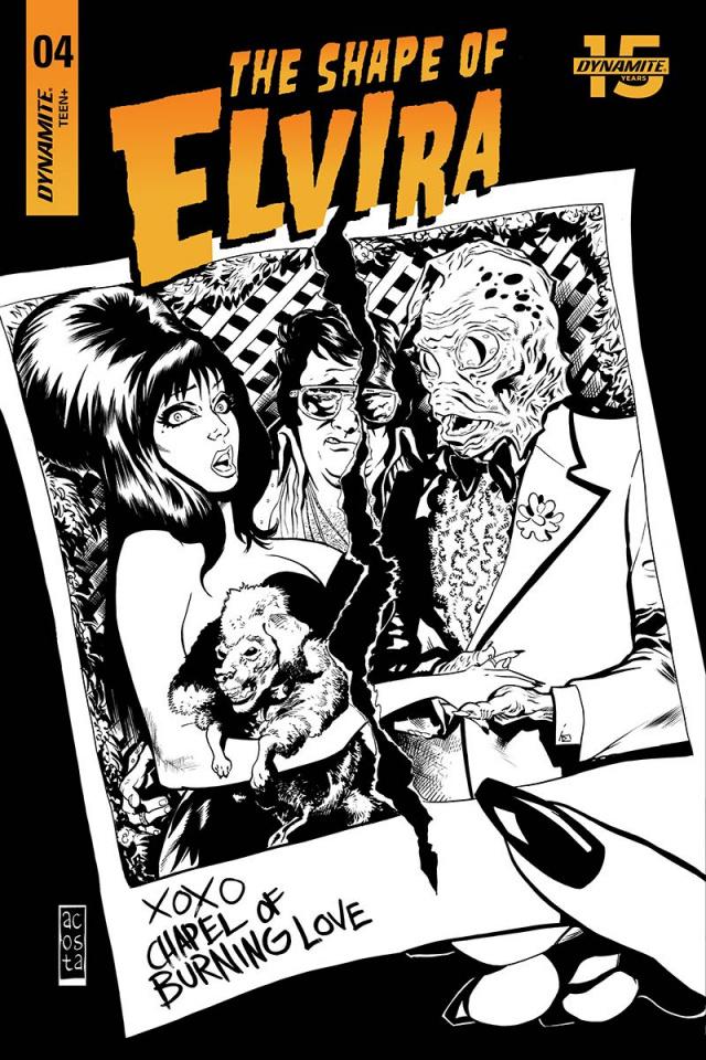 The Shape of Elvira #4 (30 Copy Acosta B&W Cover)