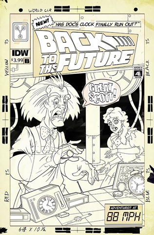 Back to the Future: Time Train #1 (25 Copy Cover)