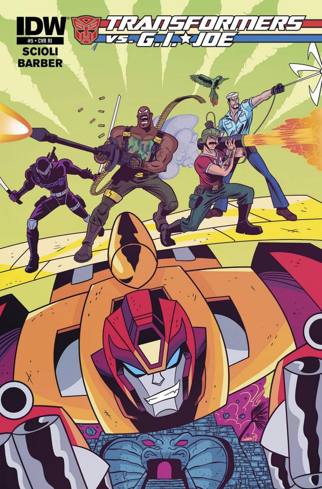 Transformers vs. G.I. Joe #5 (10 Copy Cover)