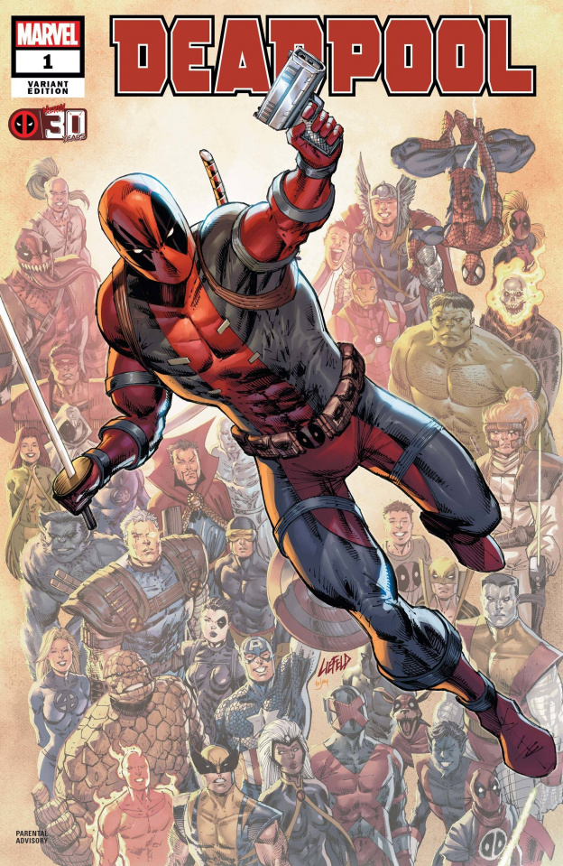 Deadpool: Nerdy 30 #1 (Liefeld Deadpool 30th Anniversary Cover)