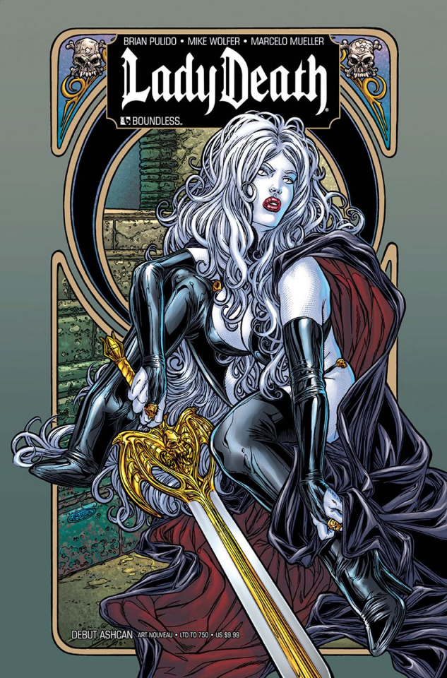 Lady Death 2010 Debut Ashcan Bag Set