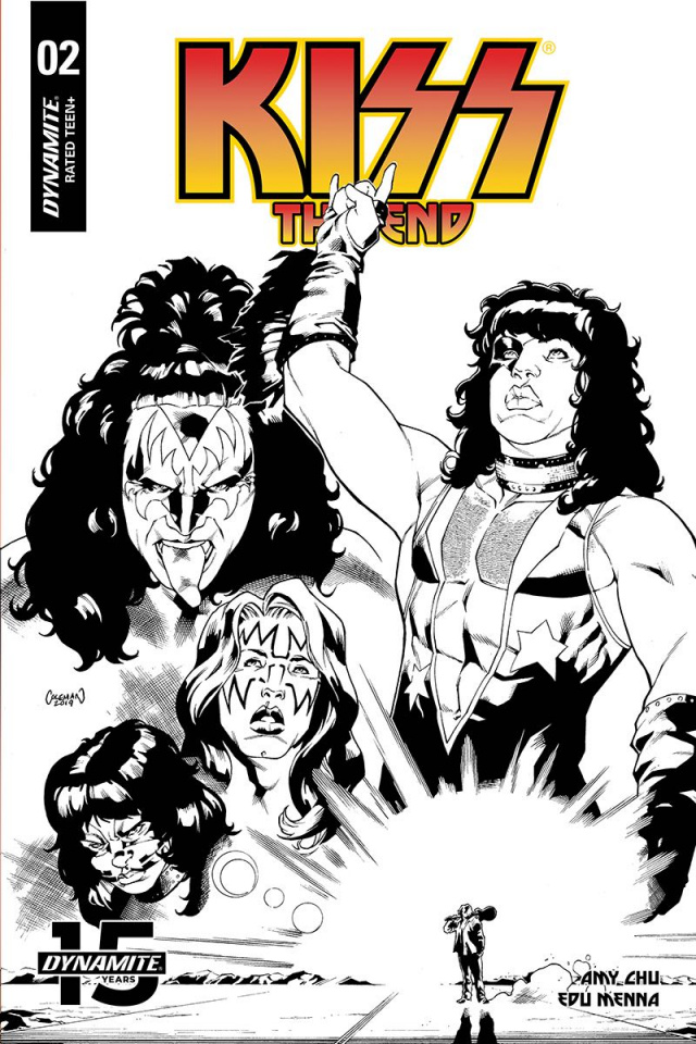 KISS: The End #2 (20 Copy Coleman B&W Cover)