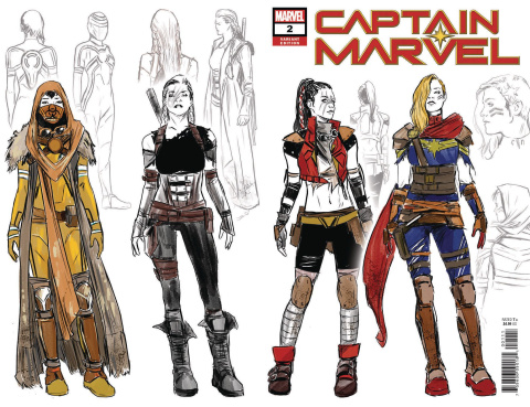 Captain Marvel #2 (Carnero Design Wraparound Cover)
