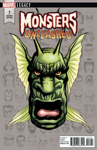 Monsters Unleashed! #7 (McKone Legacy Headshot Cover)