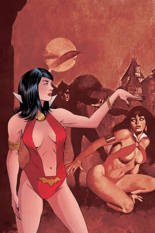 Vampirella / Red Sonja #3 (30 Copy Moss Virgin Cover)