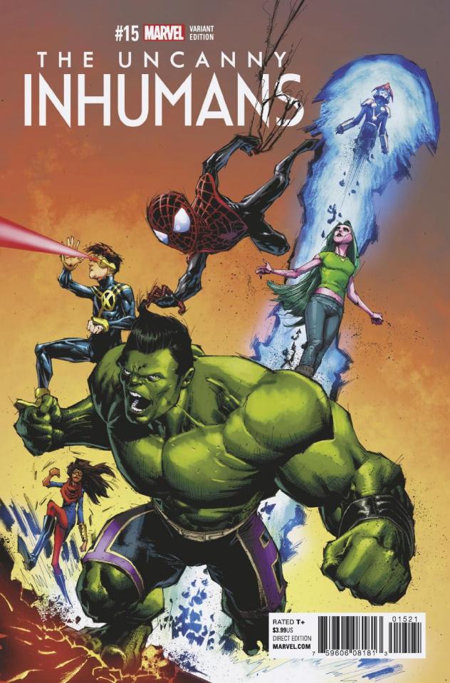 The Uncanny Inhumans #15 (Portacio Champions Cover)
