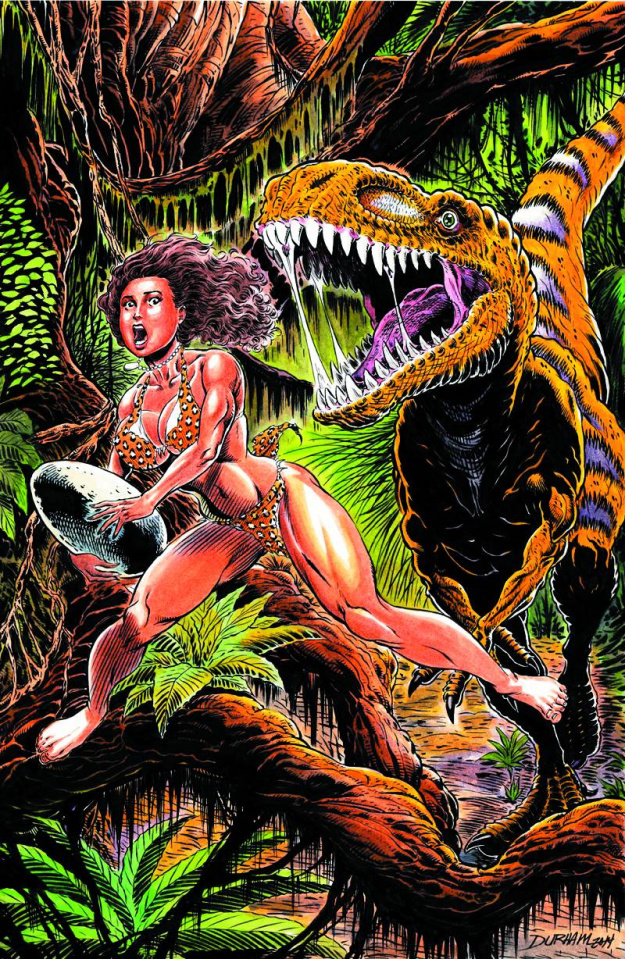 Cavewoman: The Fallen (Durham Cover)
