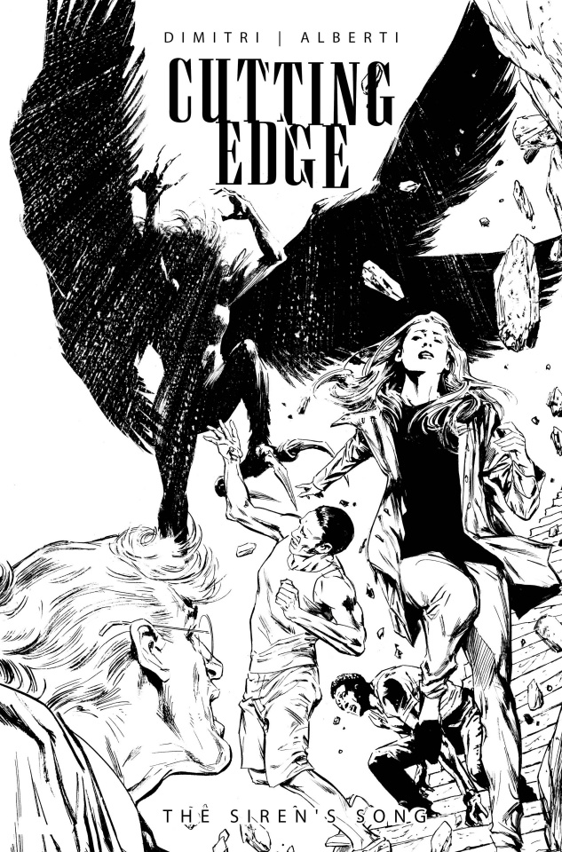 Cutting Edge: The Siren's Song #1 (Guice B&W Cover)