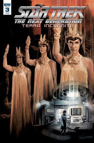 Star Trek: The Next Generation - Terra Incognita #3 (25 Copy Woodward Cover)