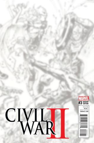 Civil War II #3 (B&W Virgin Connecting Cover)