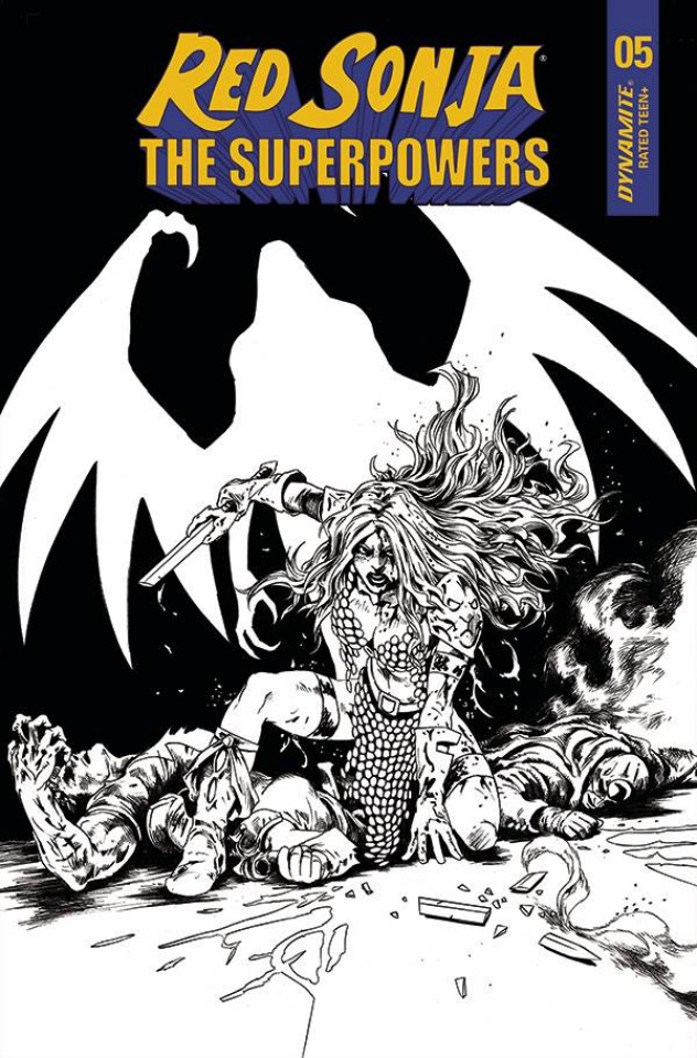 Red Sonja: The Superpowers #5 (10 Copy Lau B&W Cover)