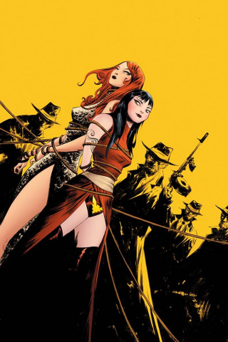 Vampirella / Red Sonja #7 (25 Copy Lee Yellow Virgin Cover)
