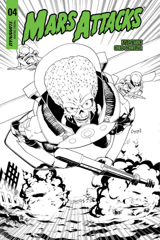 Mars Attacks #4 (20 Copy Coleman B&W Cover)