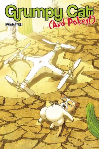 Grumpy Cat (and Pokey!) #3 (Uy Cover)