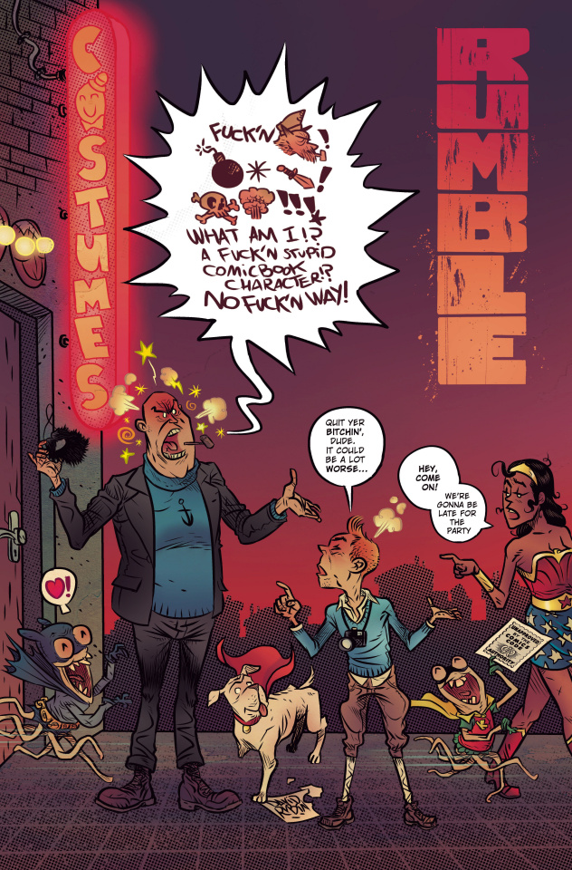 Rumble #7 (CBLDF Charity Uncensored Cover)