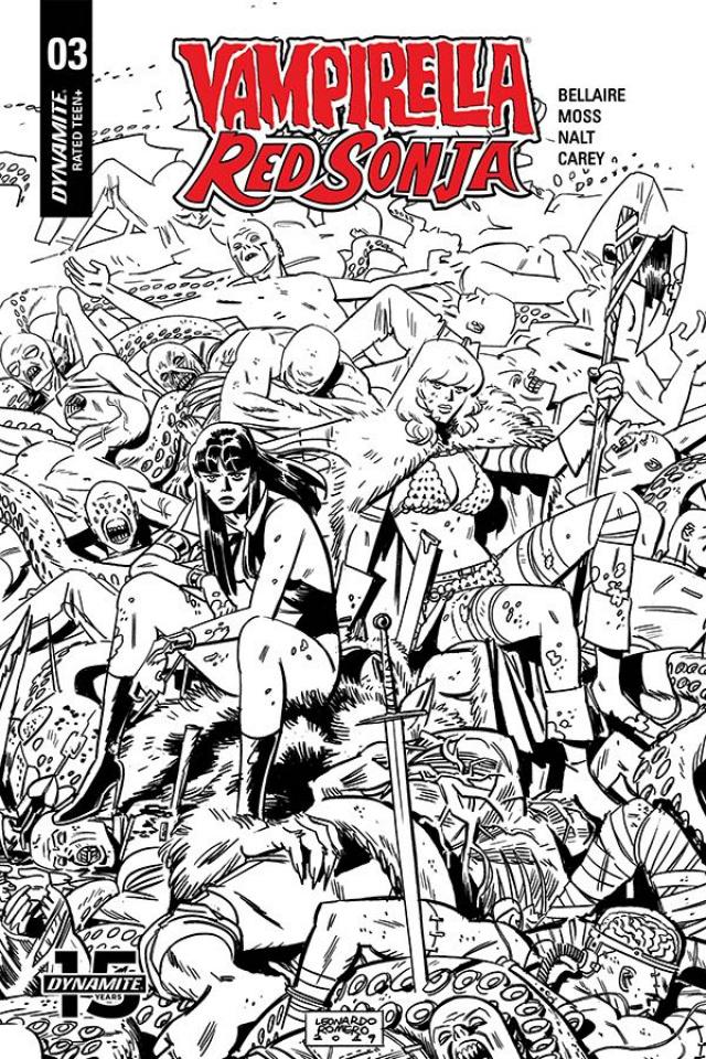 Vampirella / Red Sonja #3 (40 Copy Romero & Bellaire B&W Cover)