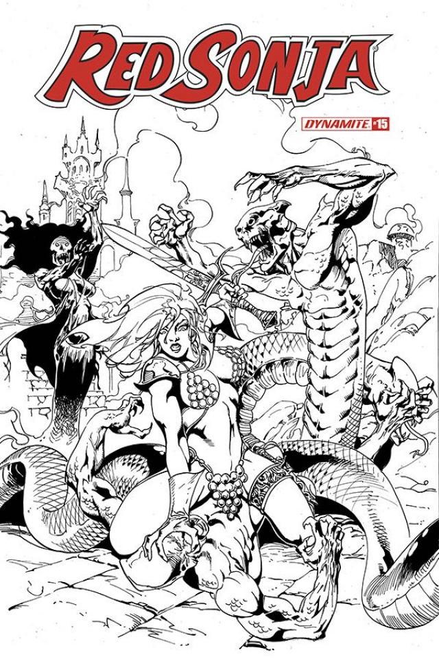 Red Sonja #15 (11 Copy Castro B&W Cover)