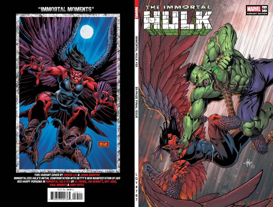 The Immortal Hulk #50 (Creees Lee Variant Cover)