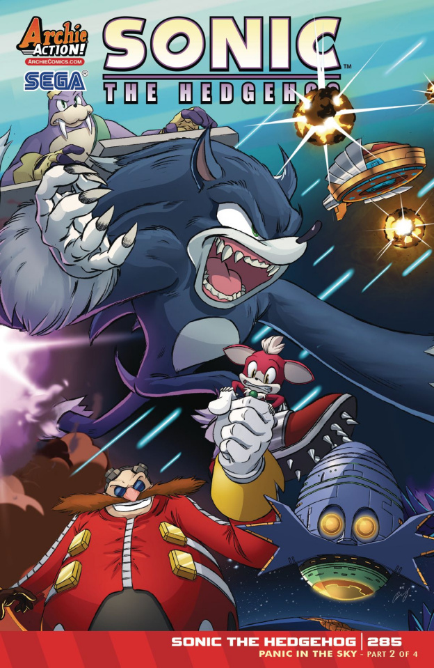 Sonic the Hedgehog #285 (Schoening Cover)