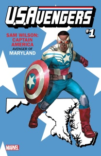 U.S.Avengers #1 (Reis Maryland State Cover)