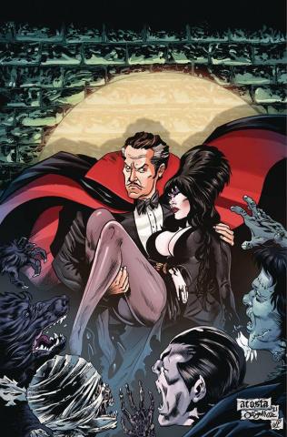 Elvira Meets Vincent Price #4 (Acosta Virgin Cover)