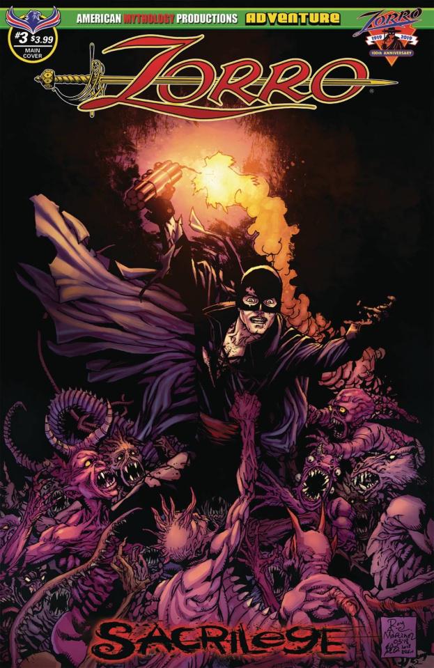 Zorro: Sacrilege #3 (Martinez Cover)
