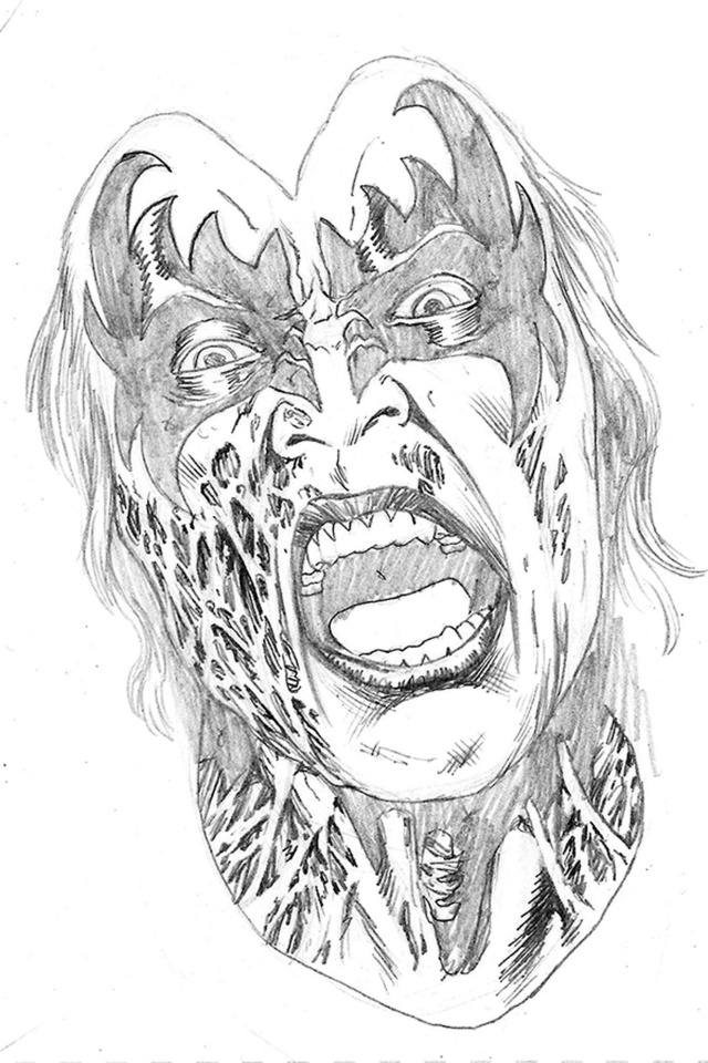KISS: Zombies #2 (15 Copy Buchemi Pencil Cover)