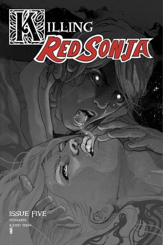 Killing Red Sonja #5 (10 Copy Ward Grayscale Cover)
