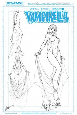 Vampirella #1 (25 Copy Campbell Artboard Cover)