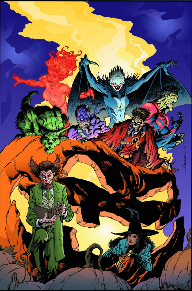 Teen Titans #13 (Monsters Cover)