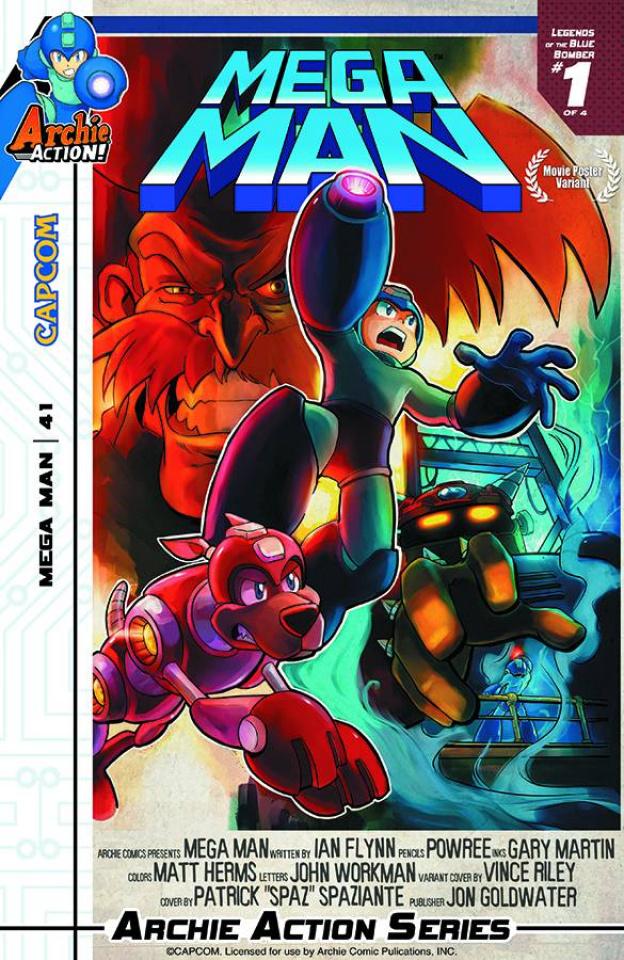 Mega Man #41 (Movie Poster Cover)
