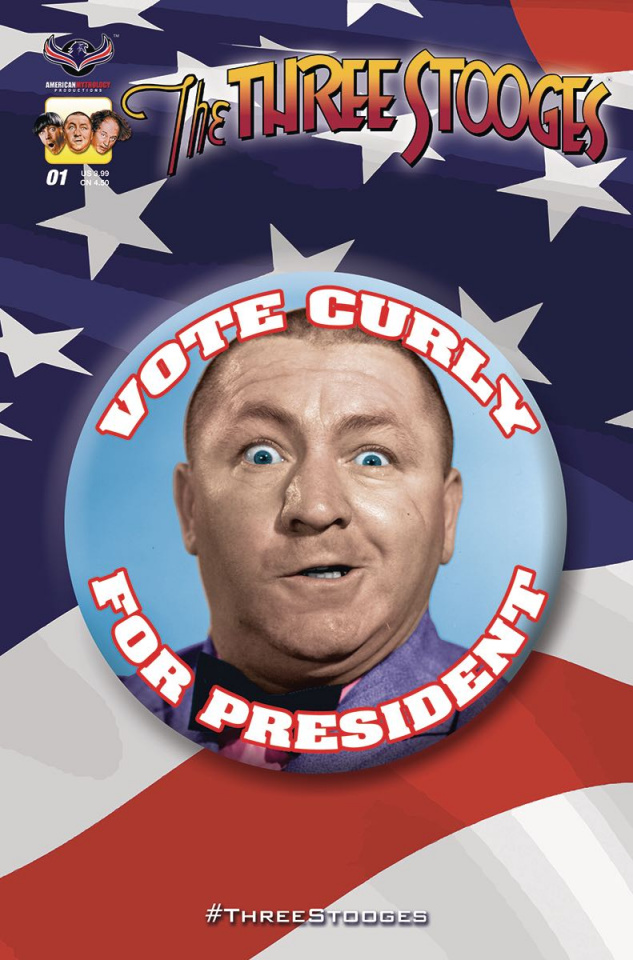 The Three Stooges: Red, White & Stooge #1 (Curly Cover)