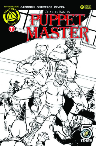 Puppet Master #18 (Ontiveros Sketch Cover)