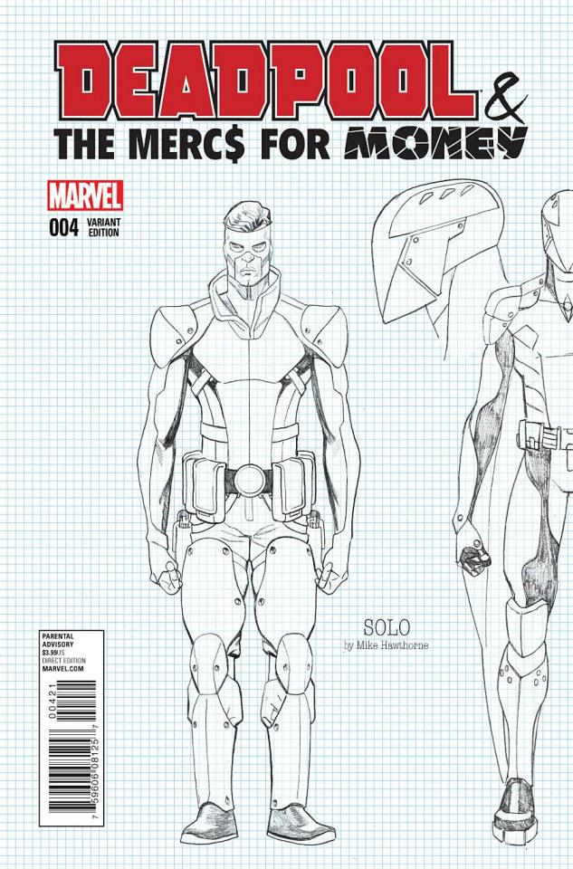 Deadpool and the Mercs For Money #4 (Hawthorne Design Cover)