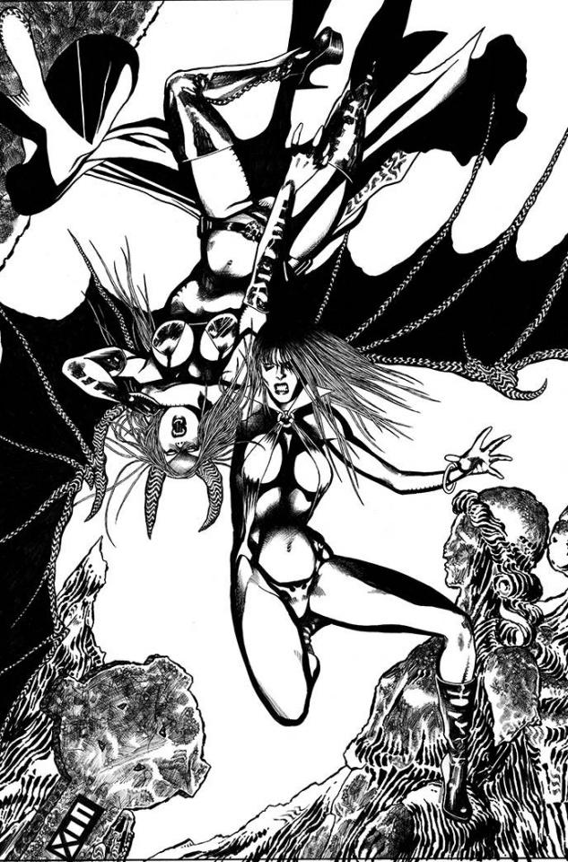Vampirella vs. Purgatori #2 (11 Copy Fox B&W Virgin Cover)